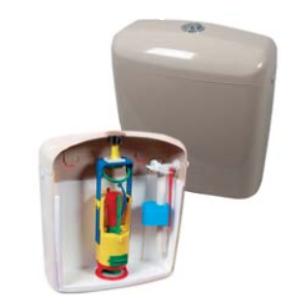 Пластмасово тоалетно казанче - двустепенно бяло, модел вега