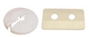 Розетка пластмасова - единична